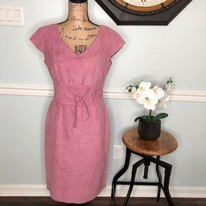 Dress Barn Faux Suede Dress Size 8